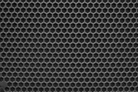 Photo for Metal mesh of speaker grill texture - Royalty Free Image