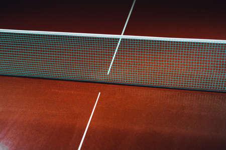 Photo pour table tennis blue net, close-up view - image libre de droit