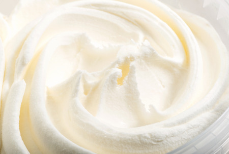 white ice cream texture macro background
