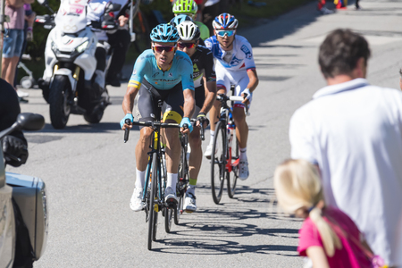 Giro d'Italia 2017 05/21/2017 ( Italy ): Pictures of the Giro d'Italia one of the most important cycling competitions in the world. Public can stand next to the route supporting and taking photos