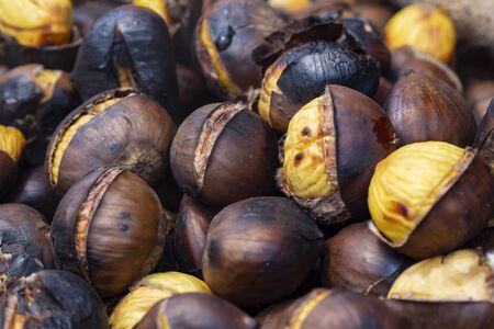 Photo for Close up of roasted chestnuts - Royalty Free Image
