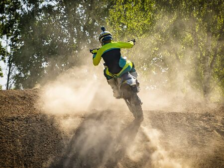 Photo for Motocross scene on a trail - Royalty Free Image