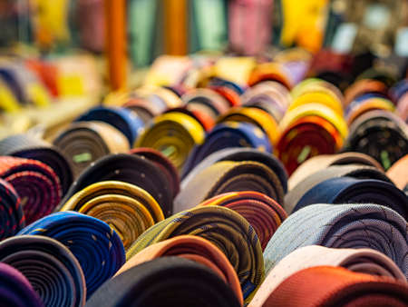 Foto per Necktie exposition in a shop - Immagine Royalty Free