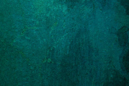 Photo for Abstract art background dark turquoise and emerald colors. Watercolor painting on canvas with soft aquamarine gradient. Fragment of artwork on paper with pattern. Texture backdrop. - Royalty Free Image