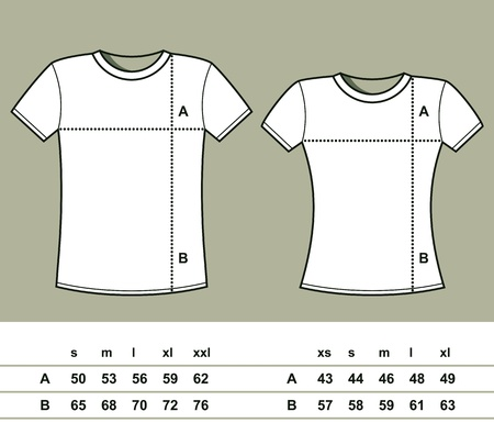 T-Shirt Sizes  men and women