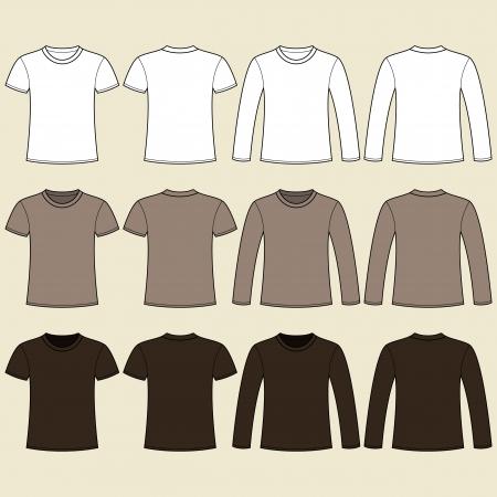 Long Sleeved T Shirt And T Shirt Template Lizenzfreie Vektorgrafiken