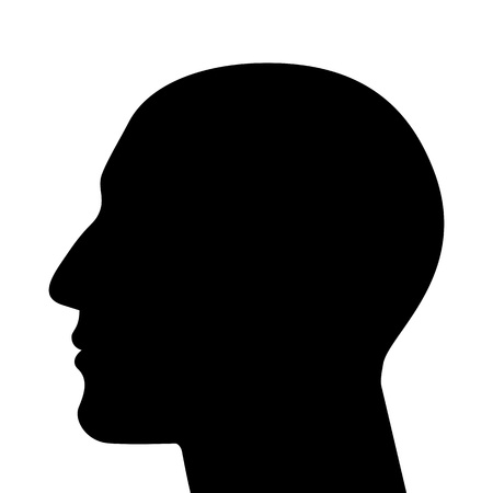 Illustration for SIlhouette of a head isolated  - Royalty Free Image