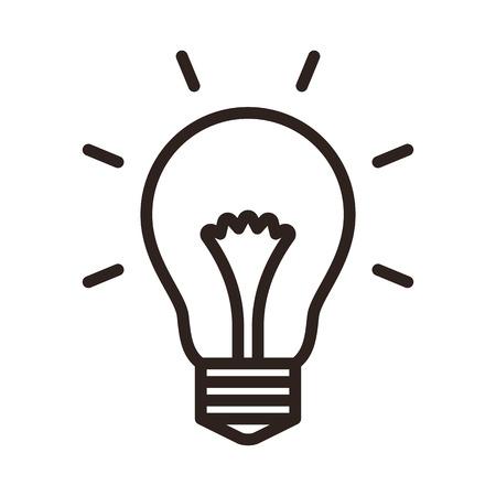 Illustration for Bulb icon isolated on white background - Royalty Free Image