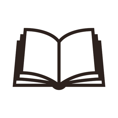 Illustration pour Book icon isolated on white background - image libre de droit