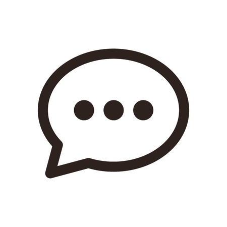 Illustration pour Chat icon  isolated on white background - image libre de droit