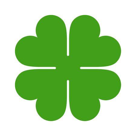 Illustration pour Four Leaf Clover Icon. Saint Patrick Symbol isolated on white background - image libre de droit