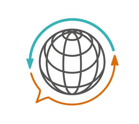 Illustration pour translation icon vector. translator, language - image libre de droit