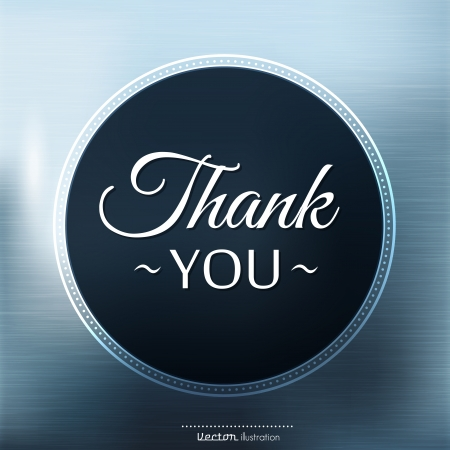 Thank you card on color background
