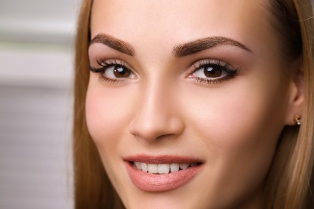 Foto de Permanent make up on eyebrows. - Imagen libre de derechos