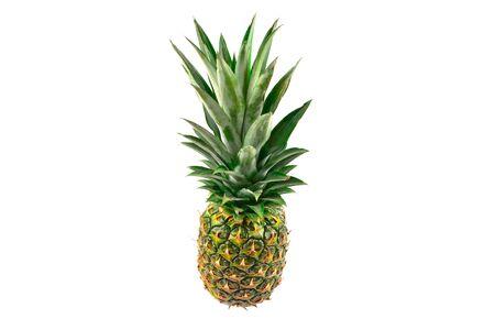 Photo pour Pineapple isolated on white. - image libre de droit