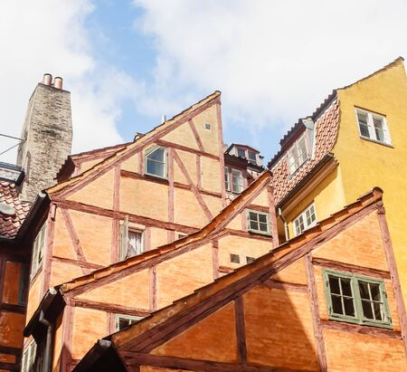 Half timbered house in the old part of Copenhagen, Denmark