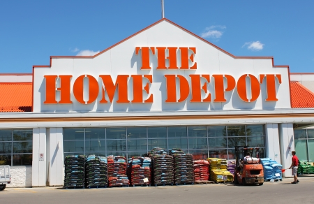 The Home Depot store entrance