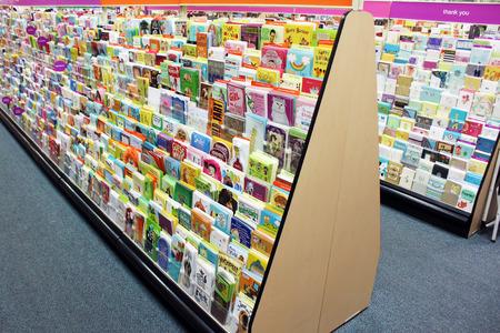 Photo pour Greeting cards in a store - image libre de droit
