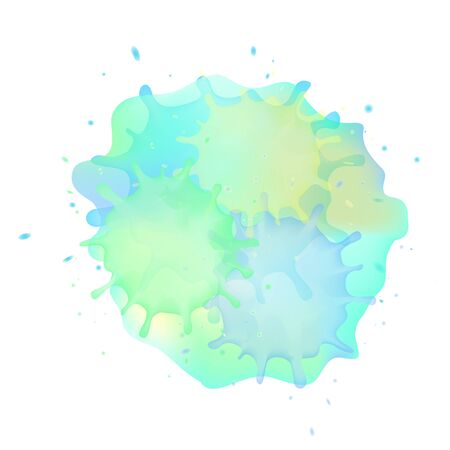 Abstract background of blue  watercolor stains.Vector illustration.