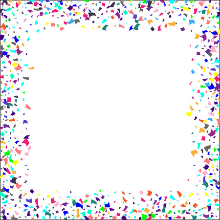 Illustration for Confetti. Colorful confetti on white background. Holiday festive background. Suitable for postcard background, banner, poster, cover design.Vector. - Royalty Free Image