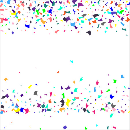 Illustration pour Confetti. Colorful confetti on white background. Holiday festive background. Suitable for postcard background, banner, poster, cover design.Vector. - image libre de droit