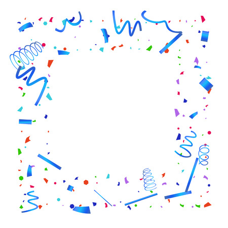 Illustration for Confetti. Colorful confetti on white background. Festive festive background. Suitable for postcard background, banner, poster, cover design. - Royalty Free Image