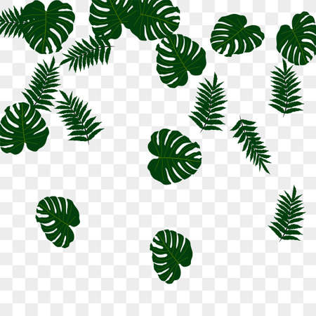 Illustration pour Trendy vector tropical pattern, great design for any purposes. Beautiful spring garden. Tropical backdrop. Summer green garden. Summer tropical leaf. Holiday decoration. - image libre de droit