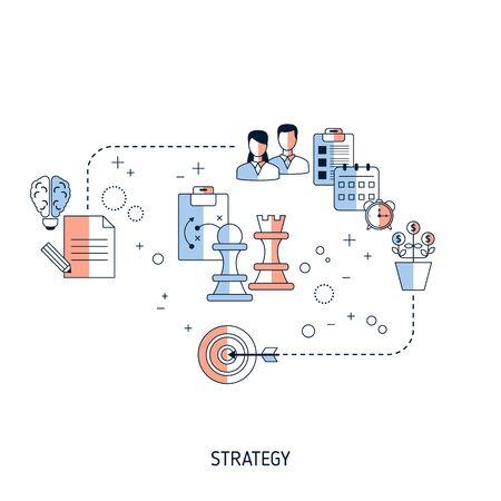 Illustration pour Business Strategy concept. Vector illustration for website, app, banner, etc. - image libre de droit