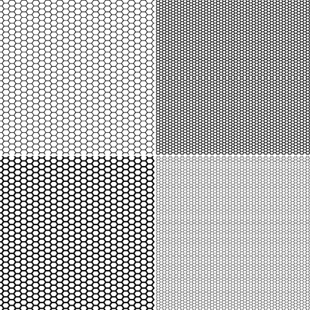 Ilustración de Vector Fishnet pattern in ornamental style. Set vector seamless pattern stockings kapron pattern - Imagen libre de derechos