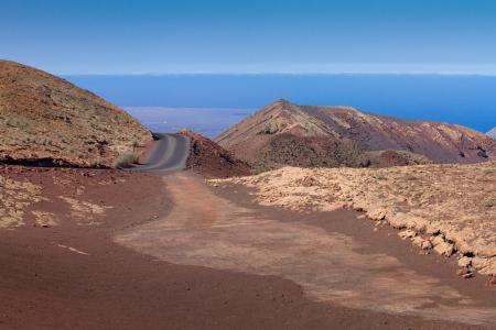Volcanic landscape in the National park Timanfaya Lanzarote island