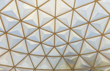 background of geodesic dome roof structure