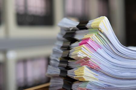 Photo pour Important documents placed on a desk in the office. - image libre de droit