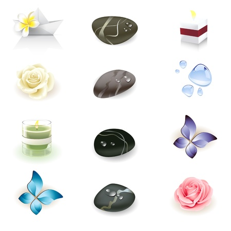Illustration for spa icon set, health and beauty seria - Royalty Free Image