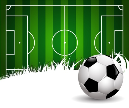 football field on white background with copy space