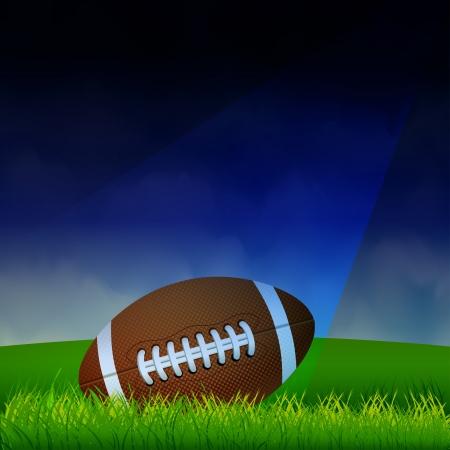 Illustration pour American Football on the field - image libre de droit