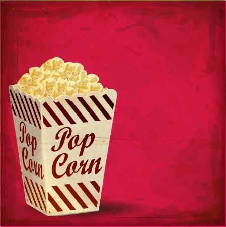 Foto de vintage Popcorn with Grunge Effect - Imagen libre de derechos
