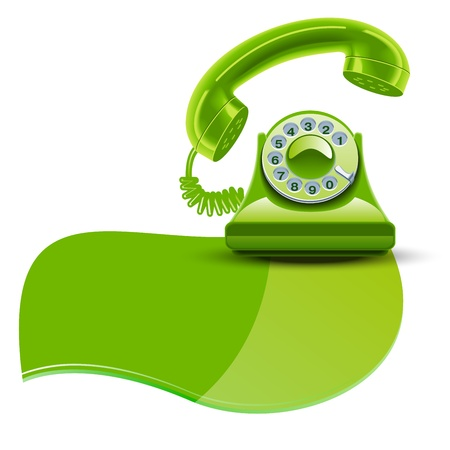 Green brilliant phone Isolated white background