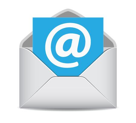 Illustration pour Email icon website contact us symbol EPS10 vector illustration on white background. - image libre de droit