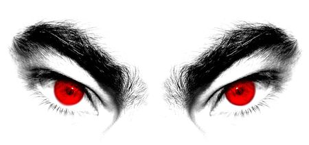 Angry red eyes of beast or devil
