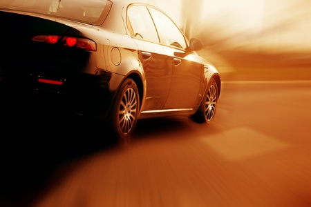 Fast sport car abstract motion blur conveying speed, sport spirit concepts