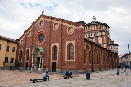 Santa Maria delle Grazie church in Milan. Hosts the painting of Leonardo da Vinci: the