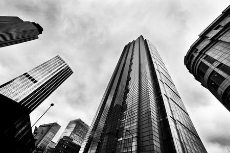 Foto de Business architecture, skyscrapers in London, the UK. Black and white - Imagen libre de derechos