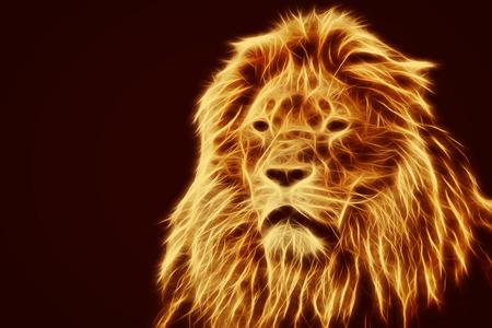Photo pour Abstract, artistic lion portrait. - image libre de droit