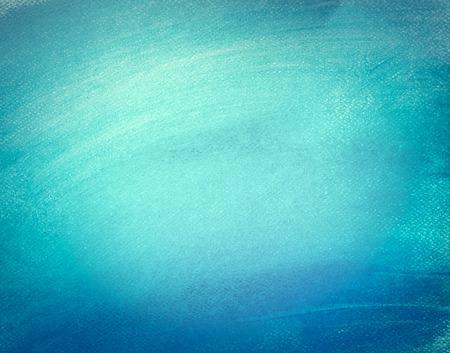 Photo pour Blue watercolor paint on canvas. Abstract art background for creative design. - image libre de droit