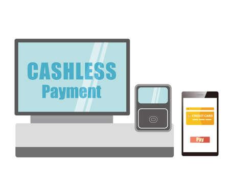 Illustration pour Online payment. smartphone. vector illustration . Electronic payment. - image libre de droit