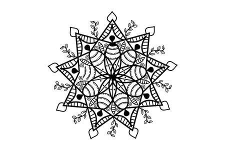 Illustration pour classic mandala ornament design illustration - image libre de droit