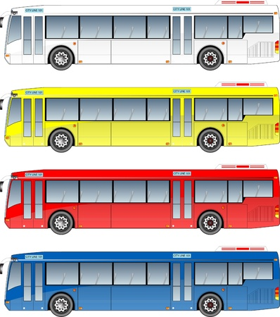 Illustration for city  bus graphic - Royalty Free Image