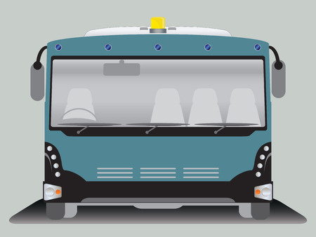 Front View Of Wide Body Airport Bus Royalty Free Vector Graphics