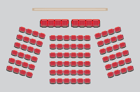 Illustration pour Top View show Seat in the Theater with vip Zone  Vector and illustration - image libre de droit