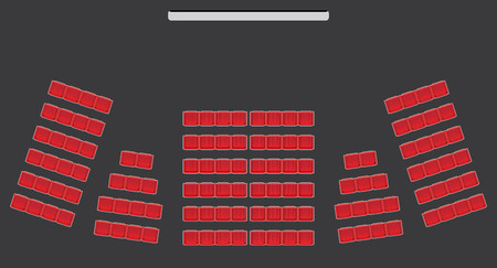 Illustration pour Top View show Seat in the Theater  with dark background Vector and illustration - image libre de droit